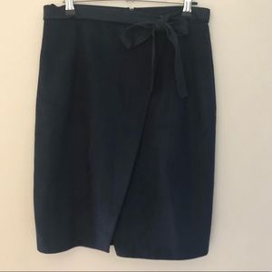 River island navy faux suede skirt size 12
